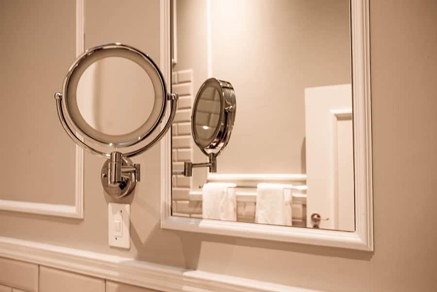 Hotel bathroom mirror