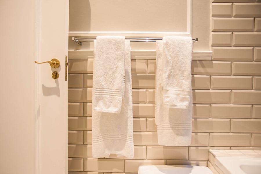 Hotel bathroom towel rail