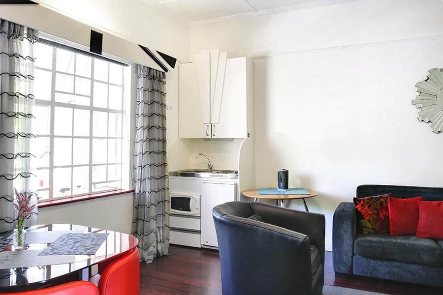Self catering apartments kitchen