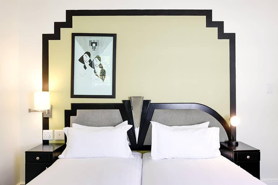 Art Deco Bedroom Self Catering Apartment