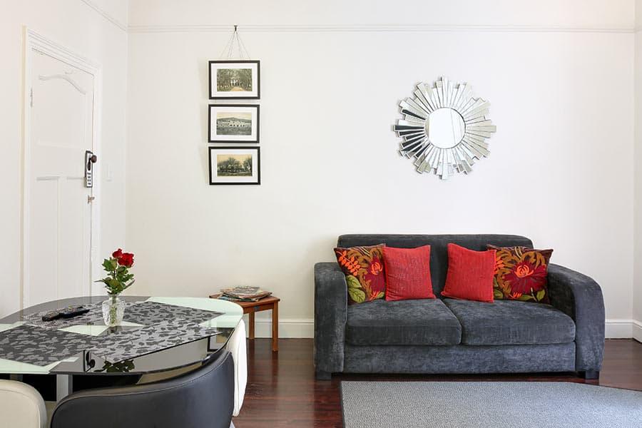 Art Deco lounge self catering apartment