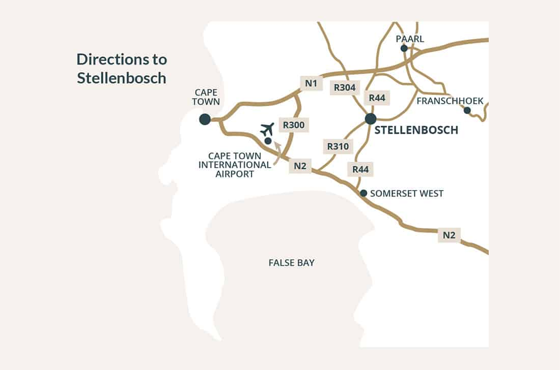Stellenbosch map and directions