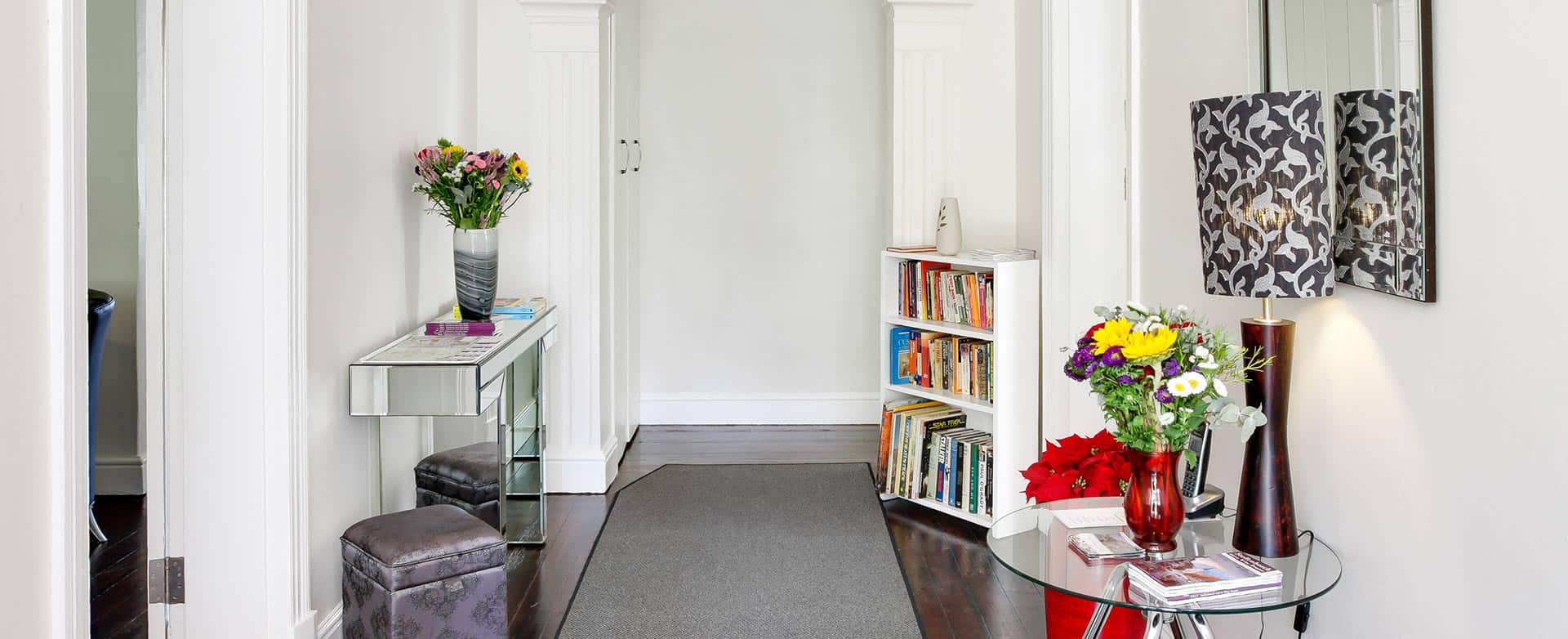 Self catering apartments entranceway