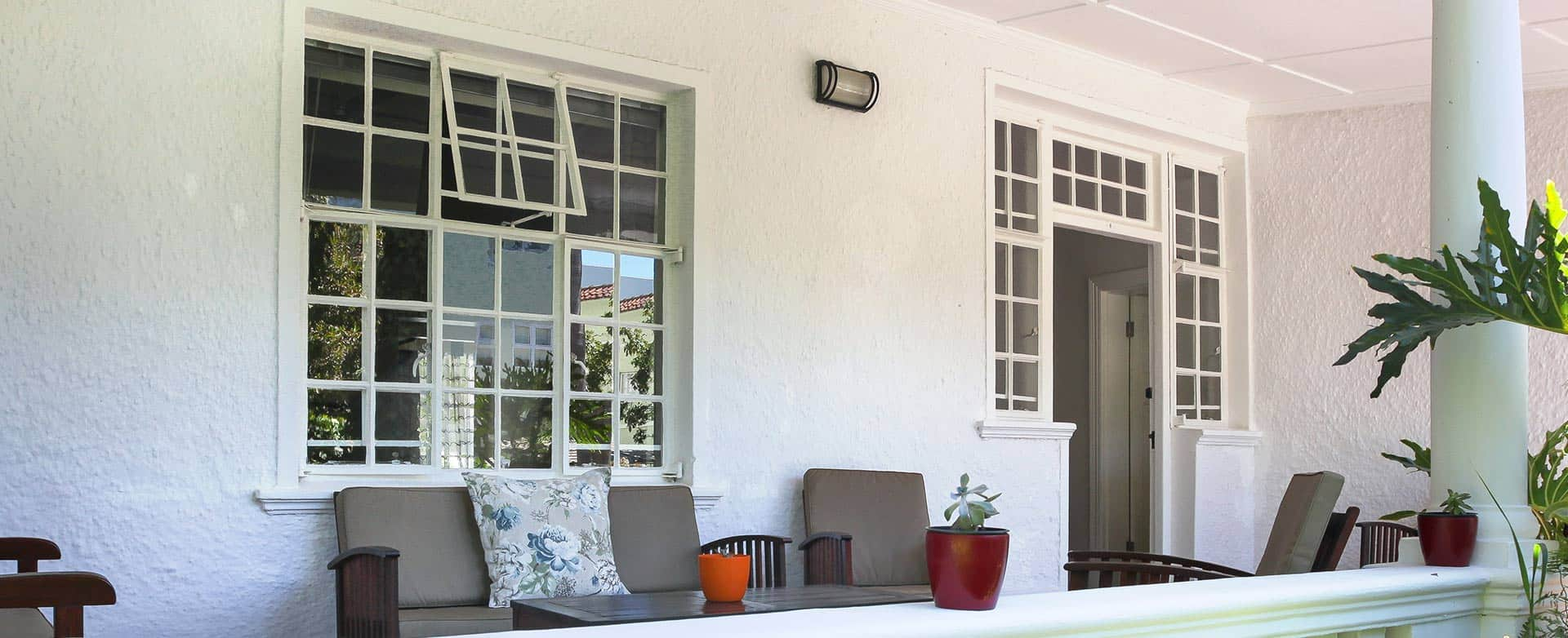 Self Catering apartments patio