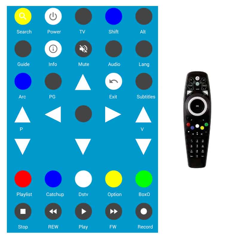 Eendracht DSTV Remote Instructions